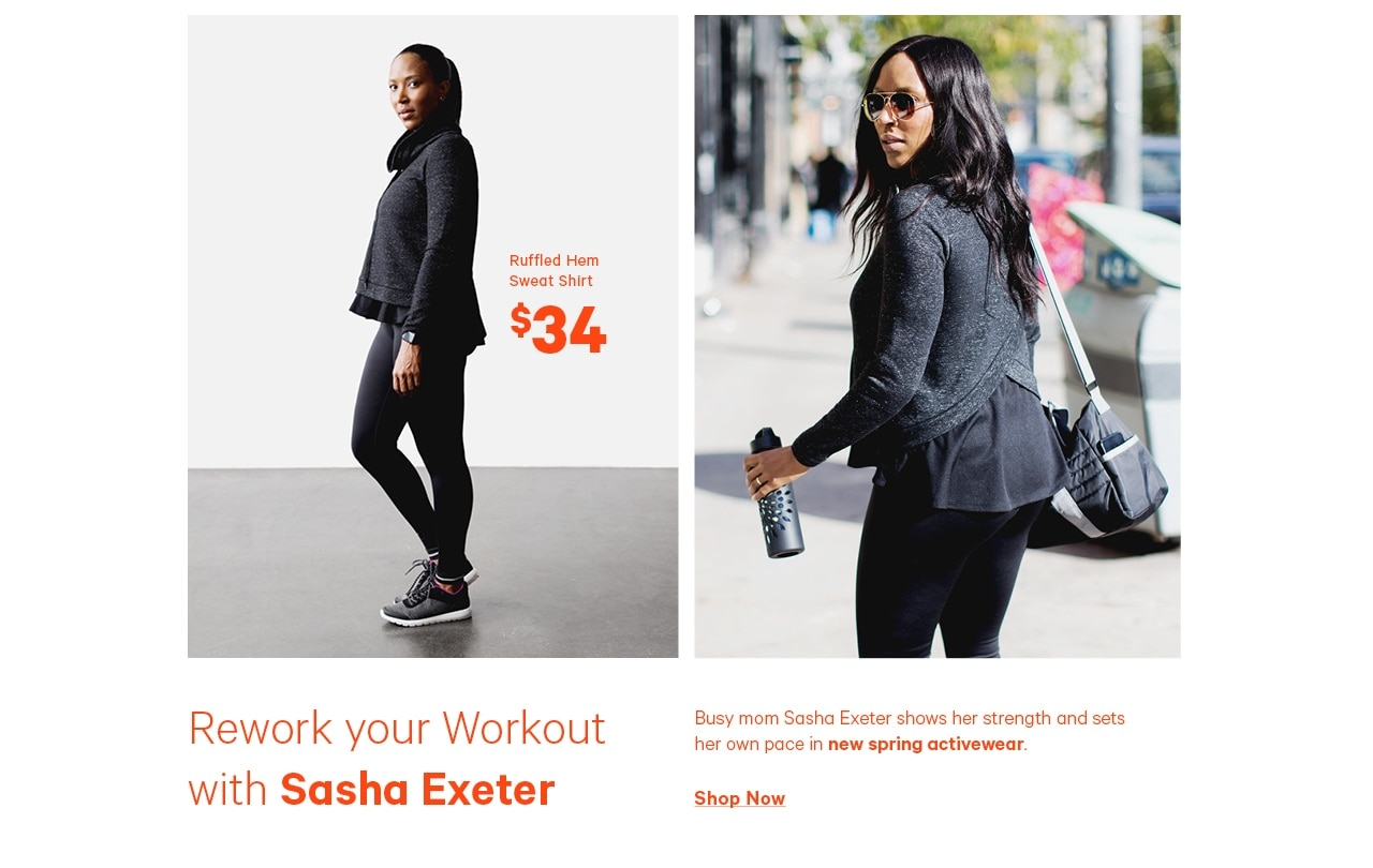 Rework your workout with Sasha Exeter