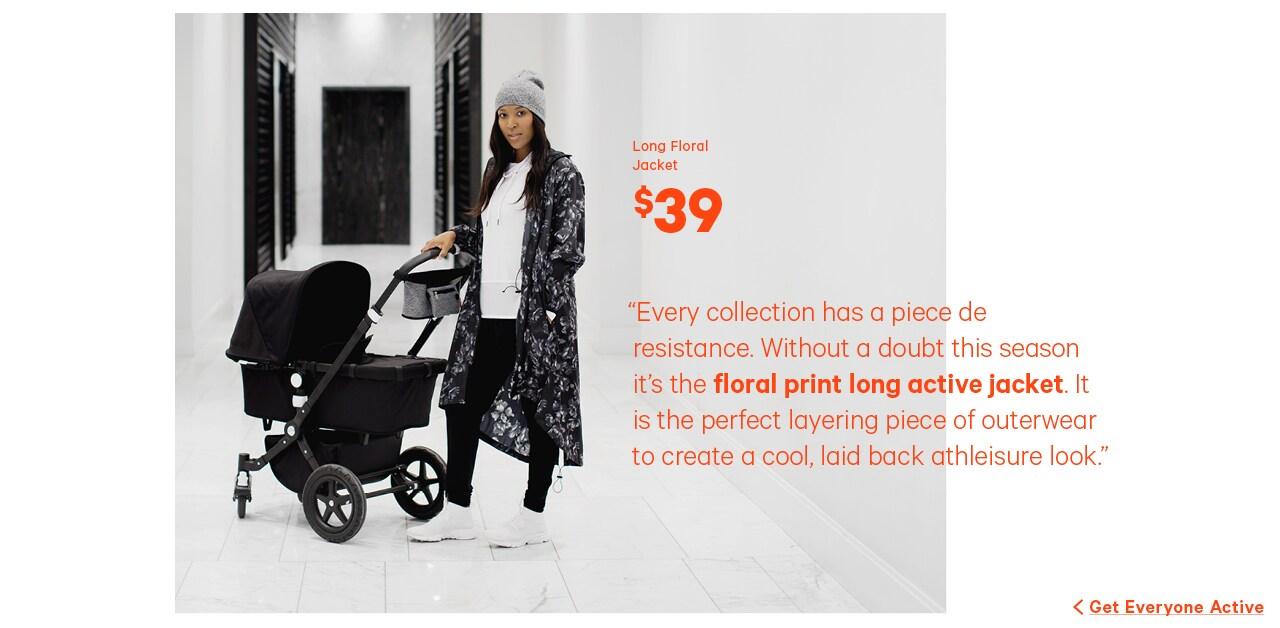 Long floral jacket $39