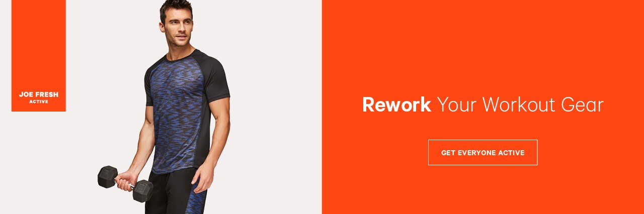 Rework your workout with men's activewear