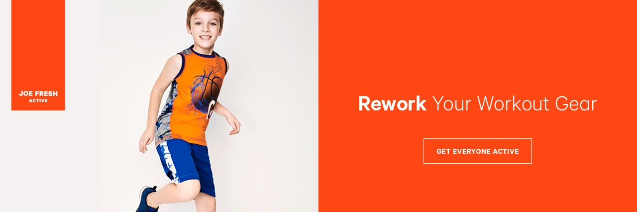 Rework your workout gear with activewear for boys and toddler boys