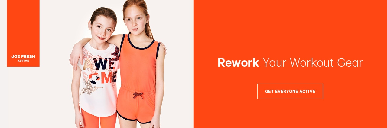 Rework your workout gear with activewear for girls and toddler girls