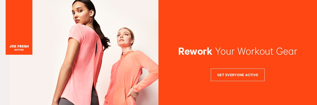 Rework your workout gear with women's activewear