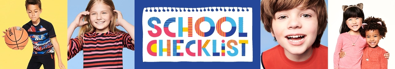 Children's back to school check list.