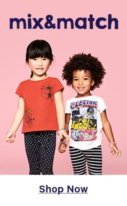 All kids mix and match clothing. Spend and save.