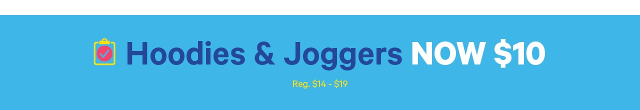 Toddler boy hoodies and joggers now 10 dollars. Back to school deals.