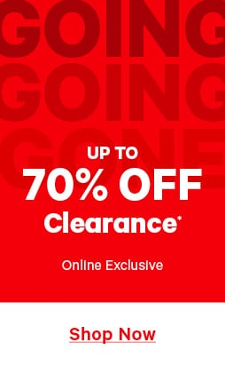 70 percent off clearance.