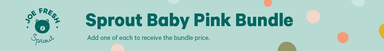 Sprout baby pink bundle