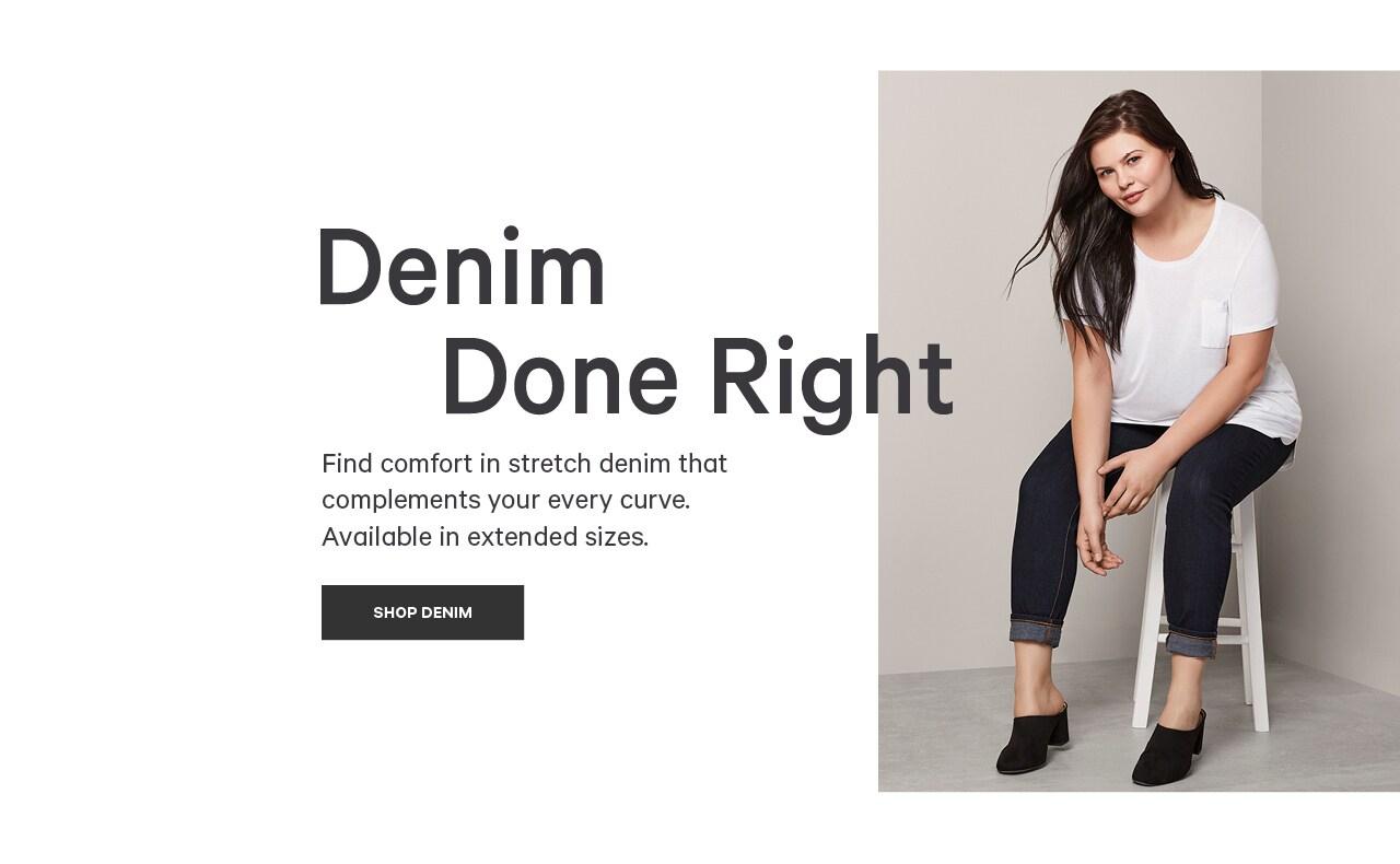 Go to women extended denim