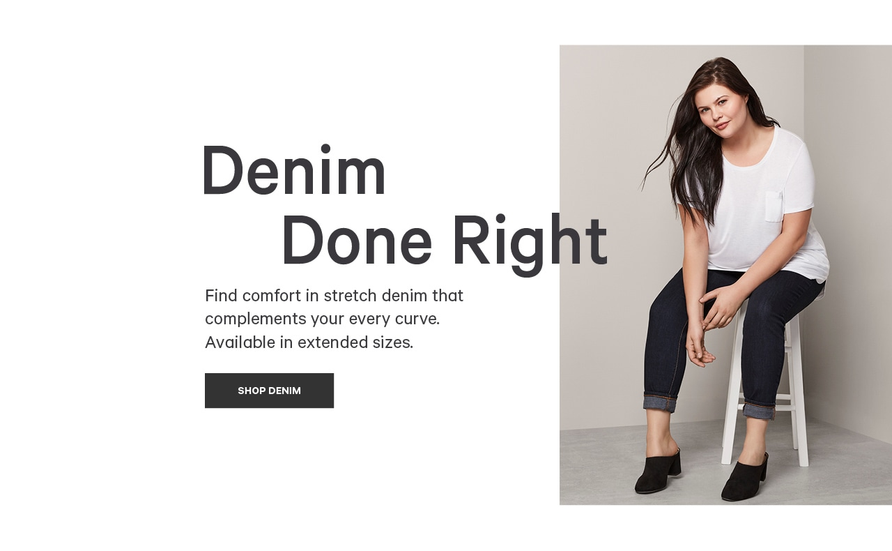 Go to women's extended denim