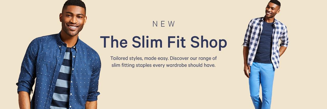Mens new slim fit shop
