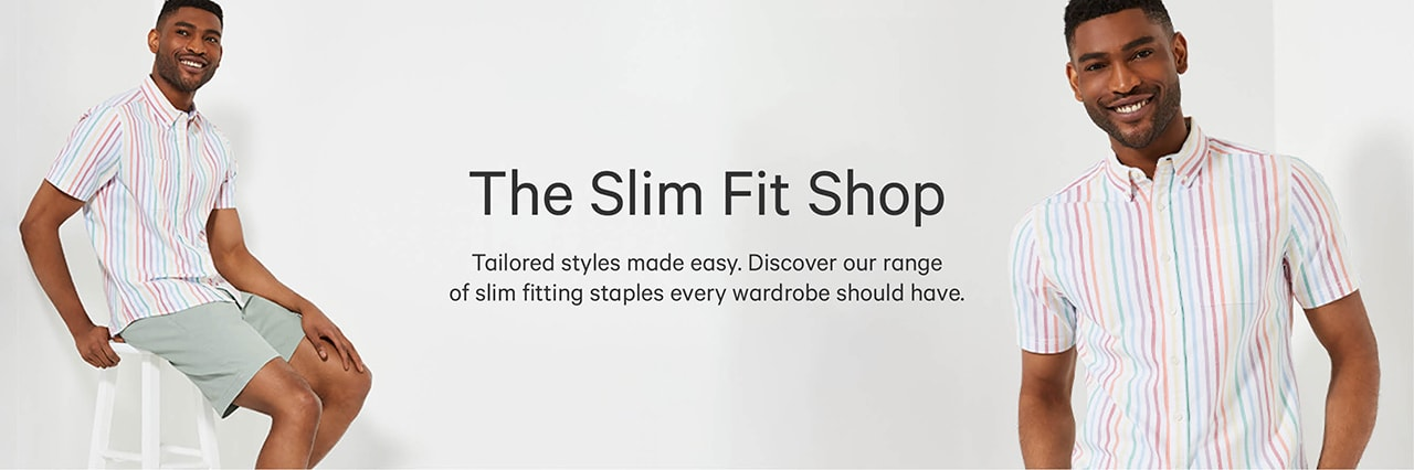 Mens slim fit shop