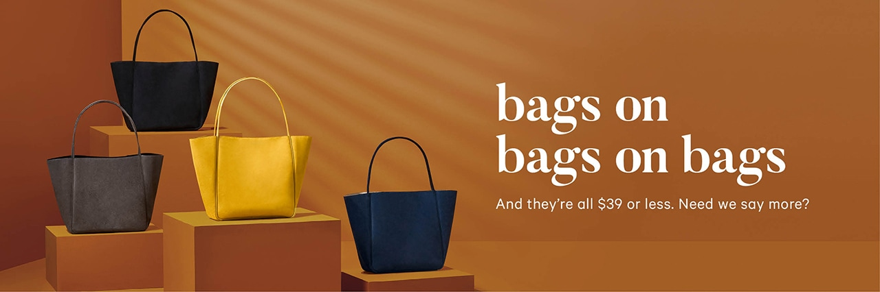 New Fall bags 39 dollars or less