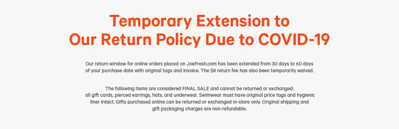 Return policy changed from 30 days to 60 days with 8 dollar fee waived.