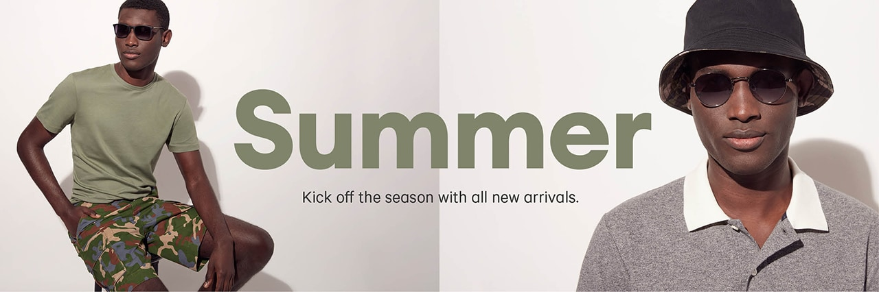 Men's summer arrivals