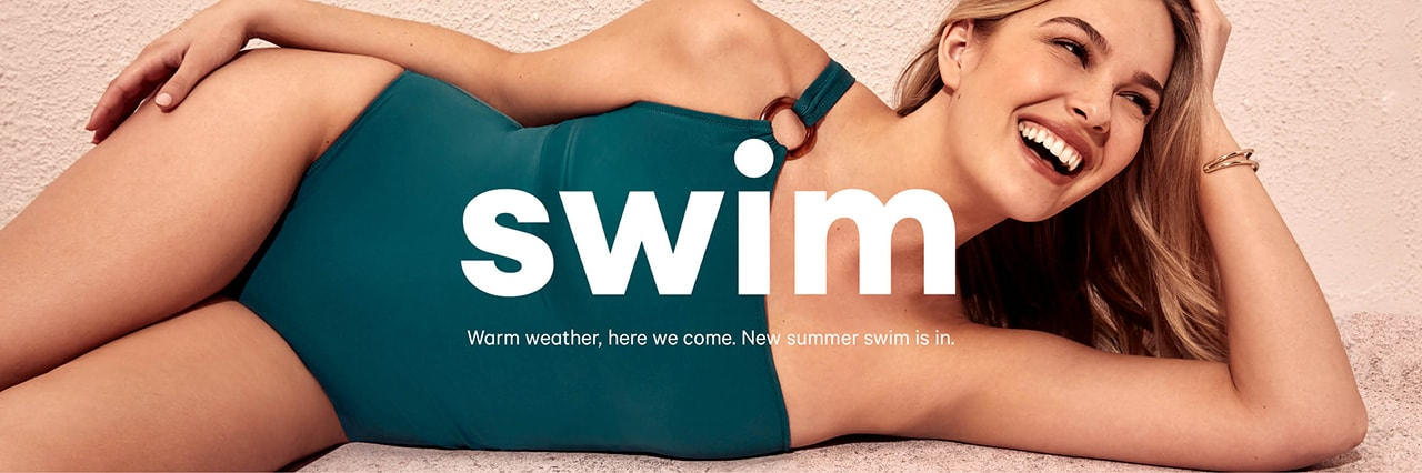Women's swimwear is back for the summer