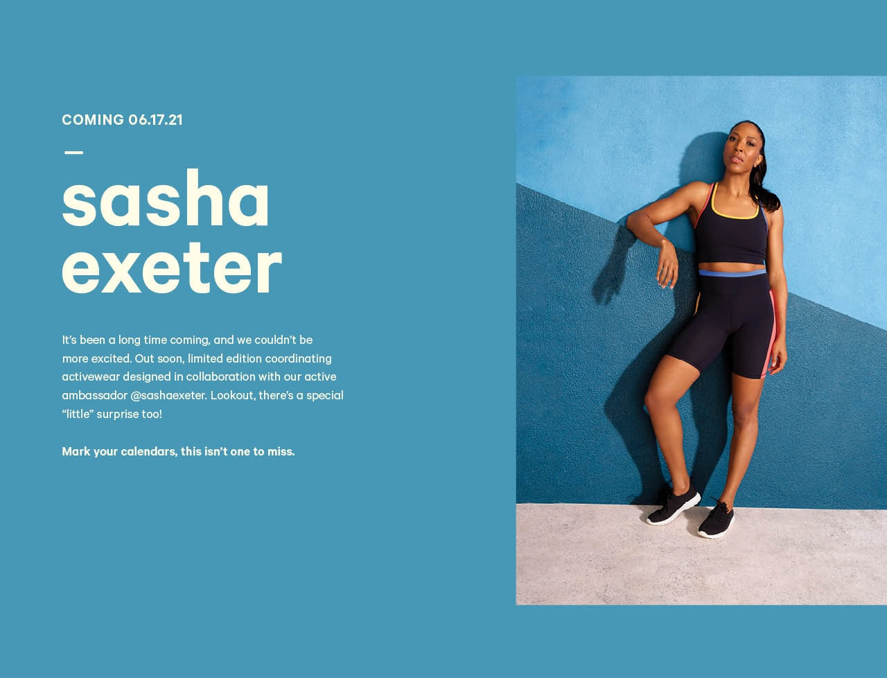 Sasha Exeter limited edition collection coming June 17