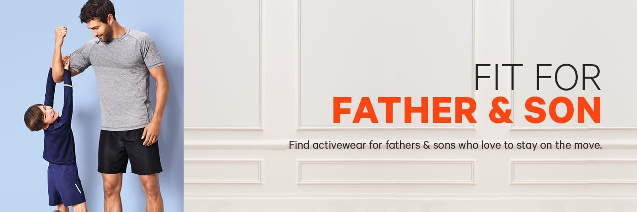 Fit for the Family Father and Son Activewear