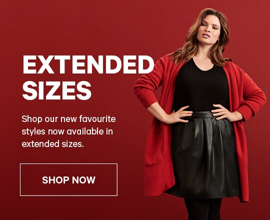 Extended Sizes | Plus grandes tailles