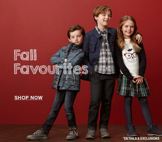 Kids' Fall Favourites. Shop Now