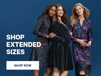 Shop Extended Sizes. Shop Now