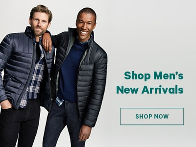 Shop Men's New Arrivals. Shop Now