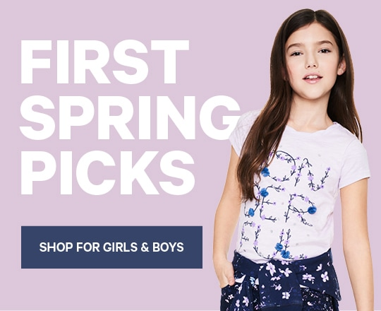 Kids First Spring Picks Shop for Girls and Boys