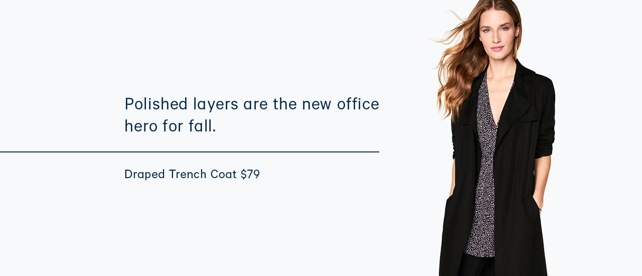 Polished layers are the new office hero for fall