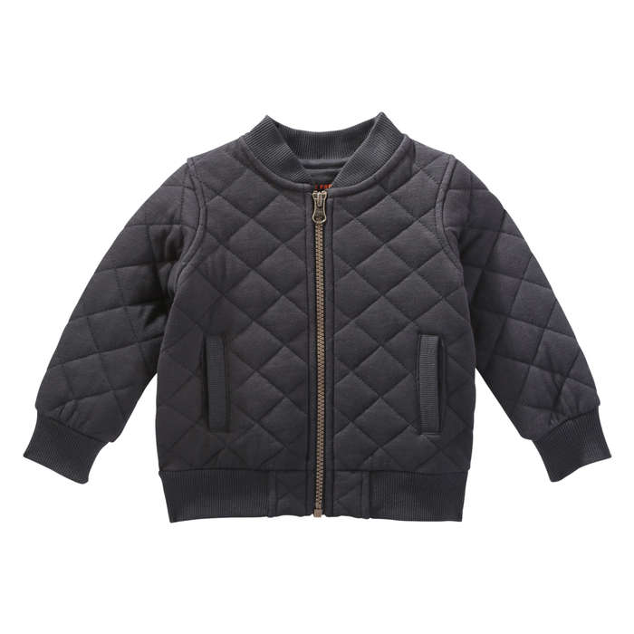 Baby Boys' Quilted Bomber Jacket in Dark Charcoal from Joe Fresh