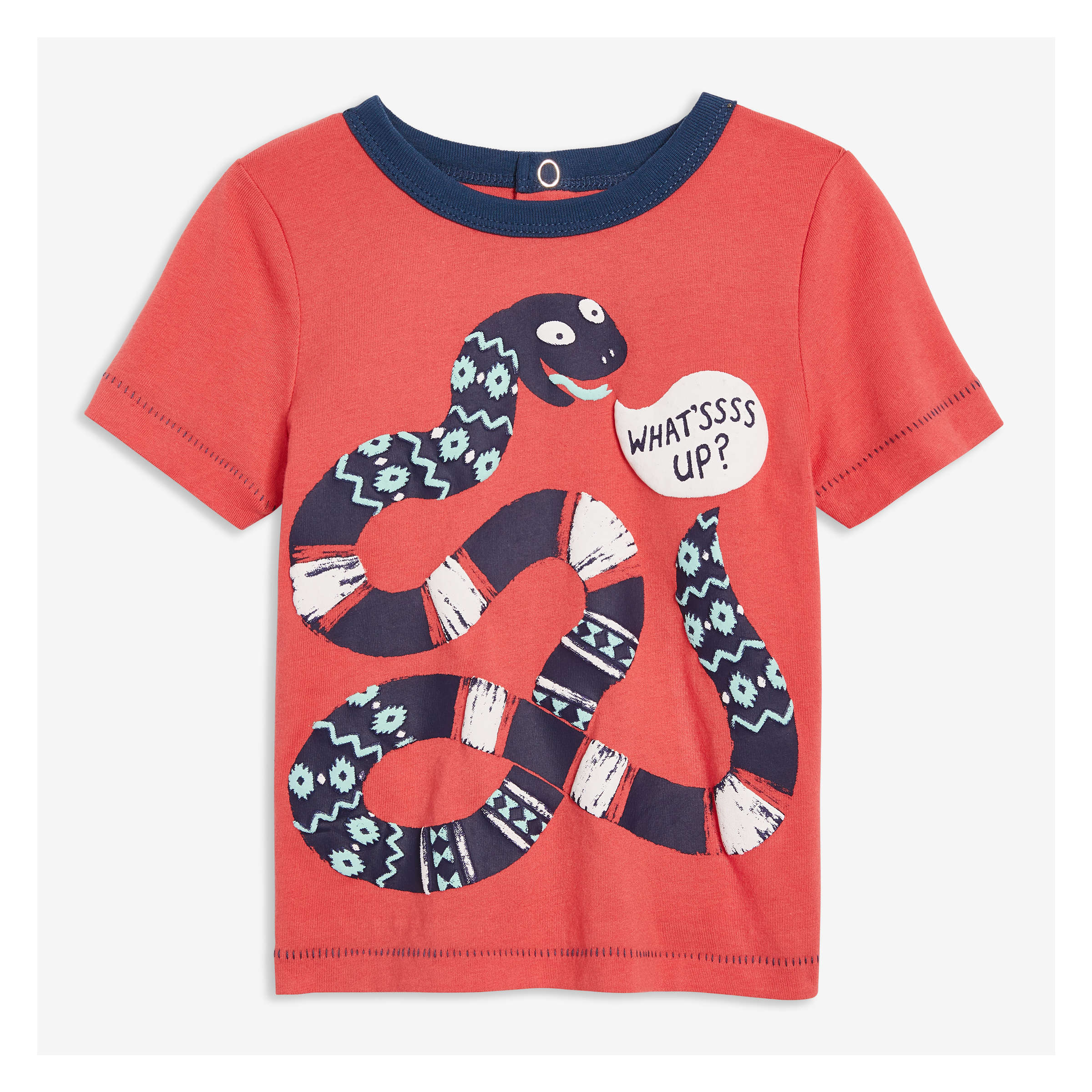 d9ababc267a24 Baby Boys' Short Sleeve Graphic Tee in Coral from Joe Fresh