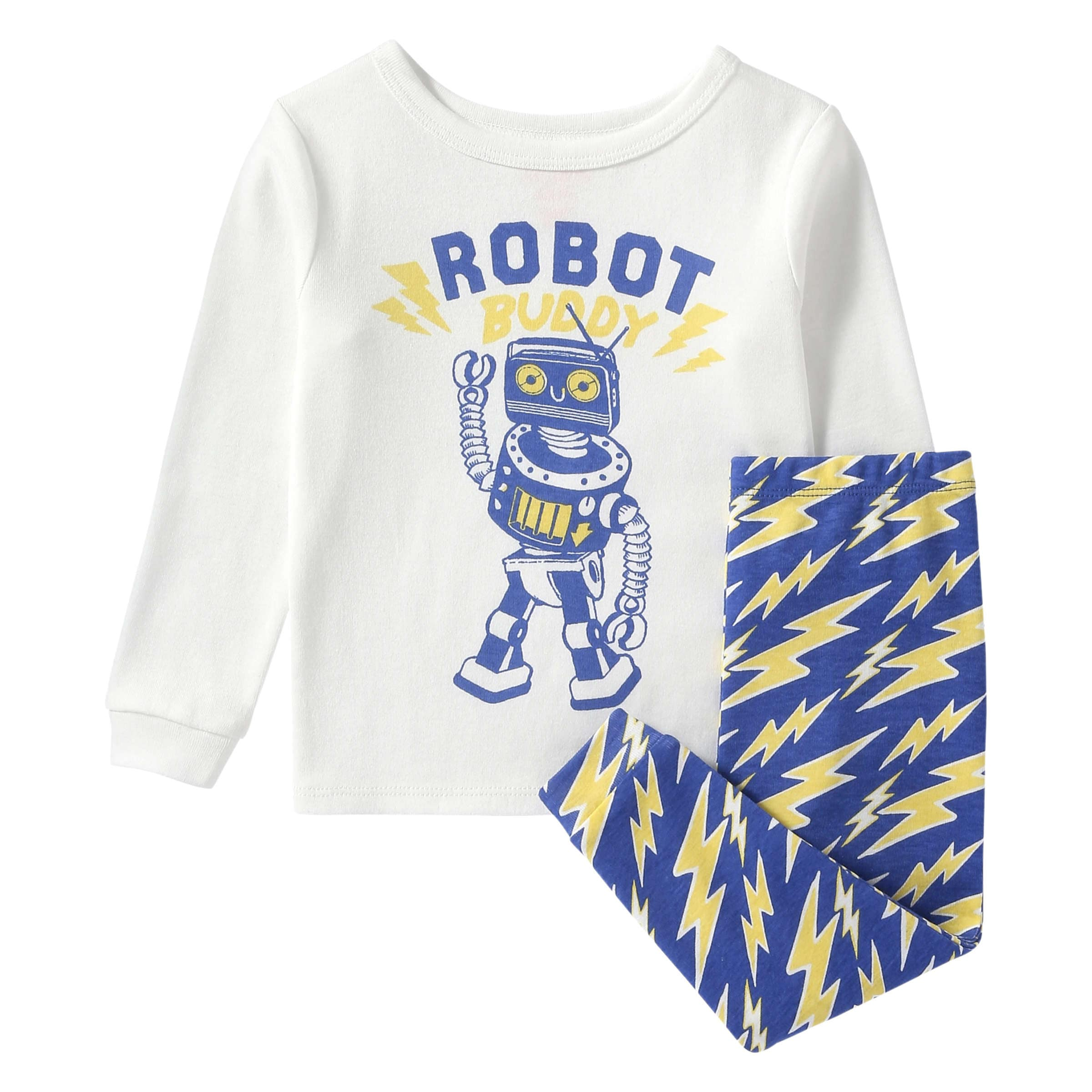 caea775e80 Baby Boys  Robot Print Sleep Set in White from Joe Fresh