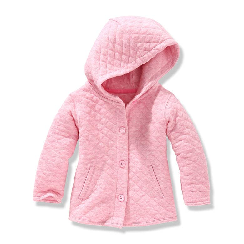 Baby Girls' Quilted Jacket in Pink Mix from Joe Fresh