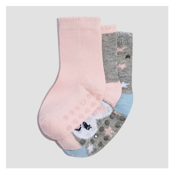Baby Girls' 3 Pack Freshter Print Socks