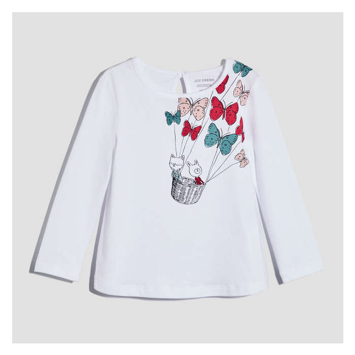 Baby Girls' Long Sleeve Graphic Tee