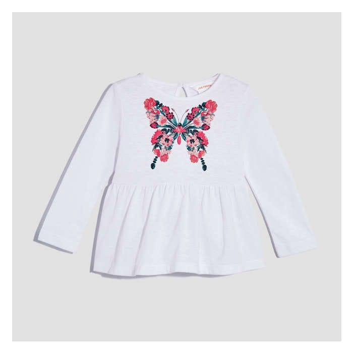 Baby Girls' Graphic Peplum Tee