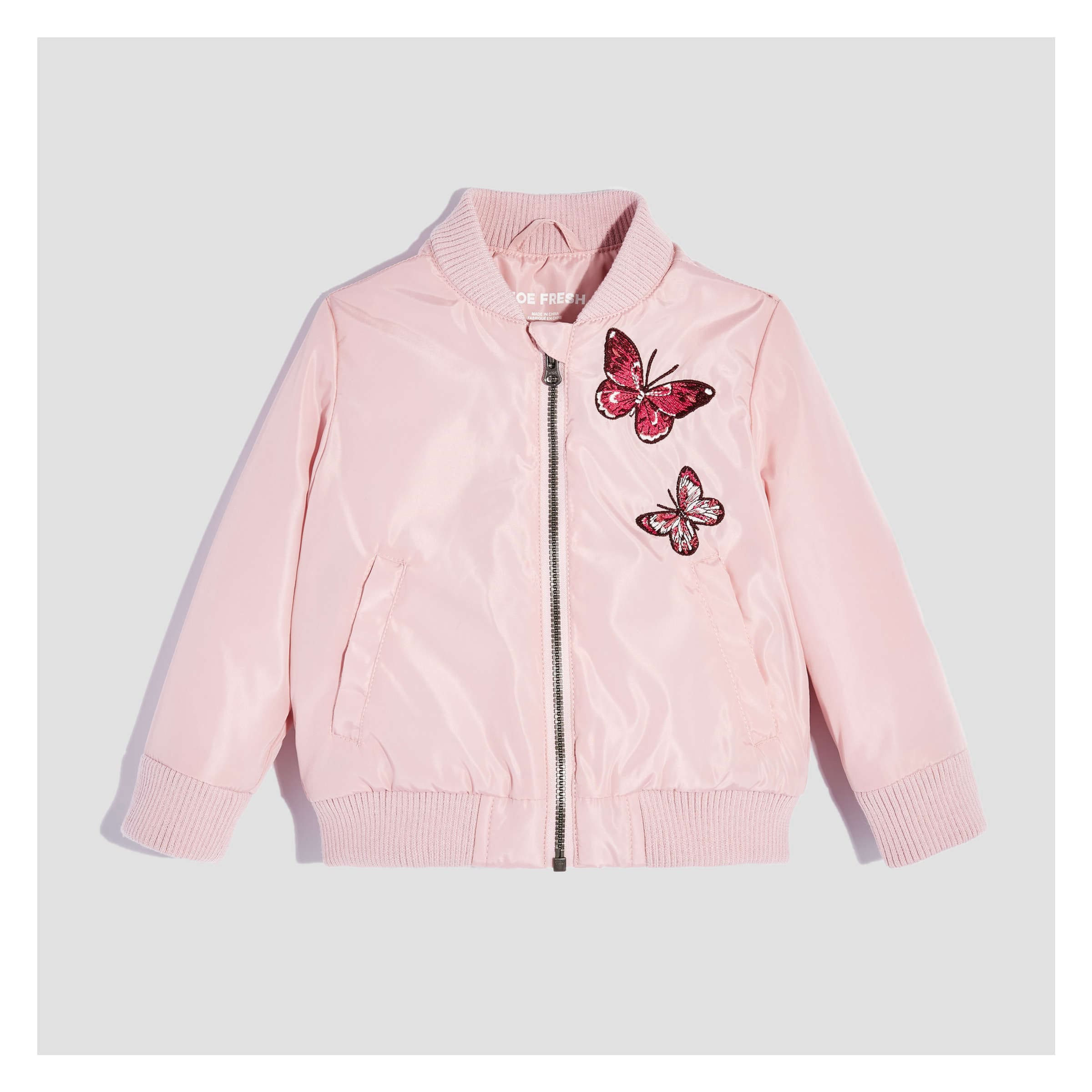 227a8aba9 Baby Girls' Bomber Jacket in JF Perennial Pink from Joe Fresh