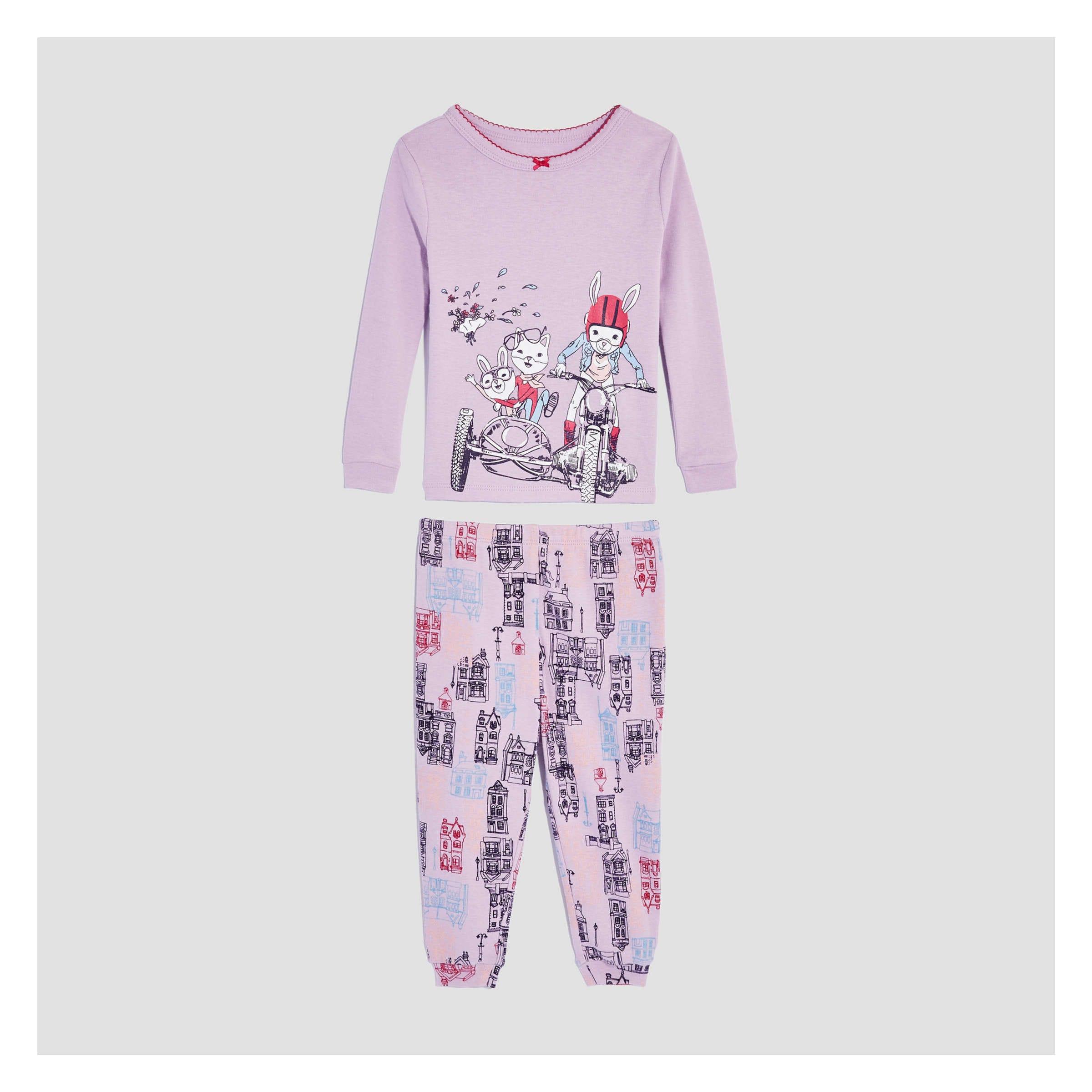 56eeccda2d18 Baby Girls  2 Piece Pajama Set in Pale Purple from Joe Fresh