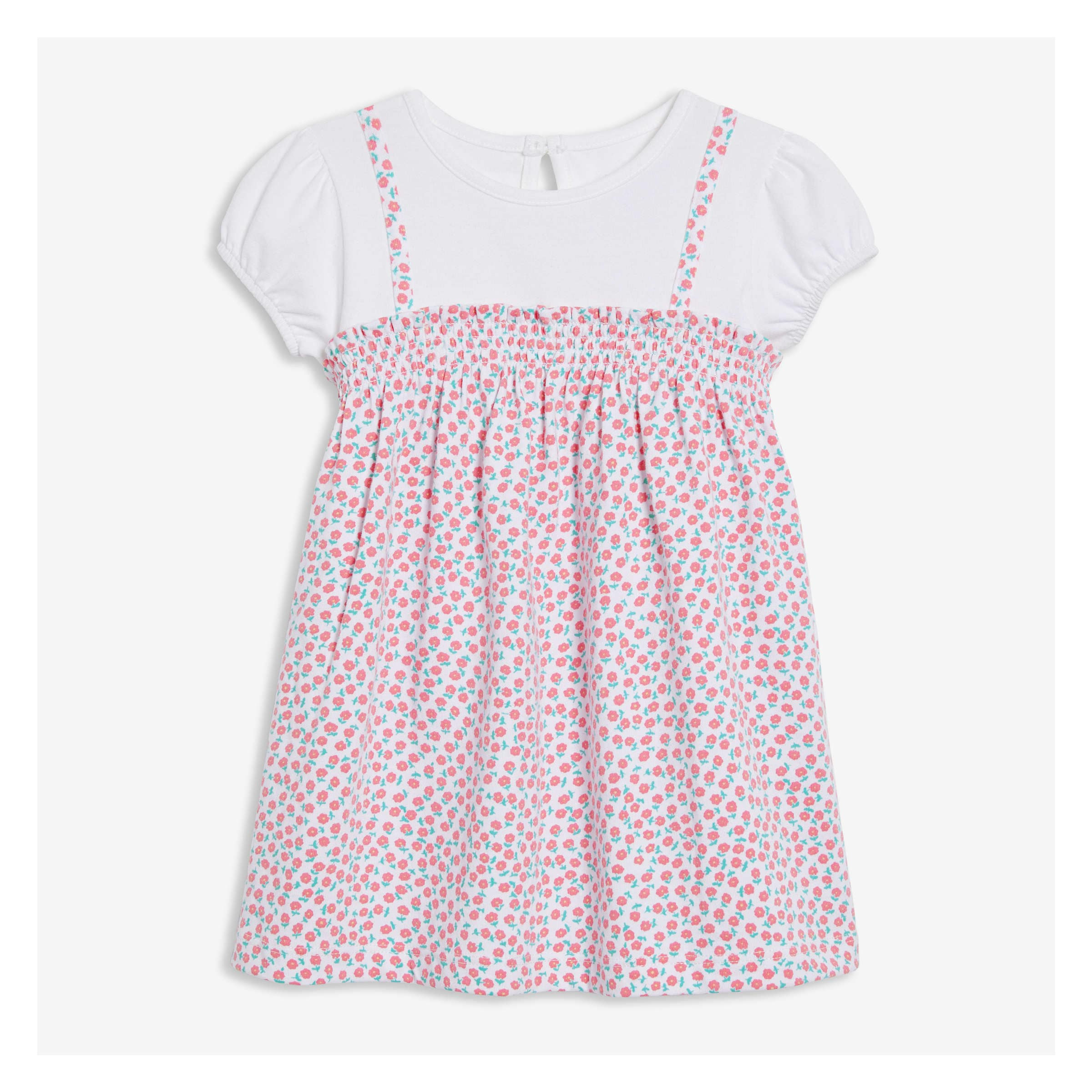 dc1fe04adc84 Baby Girls' Smocked Dress in Light Coral from Joe Fresh