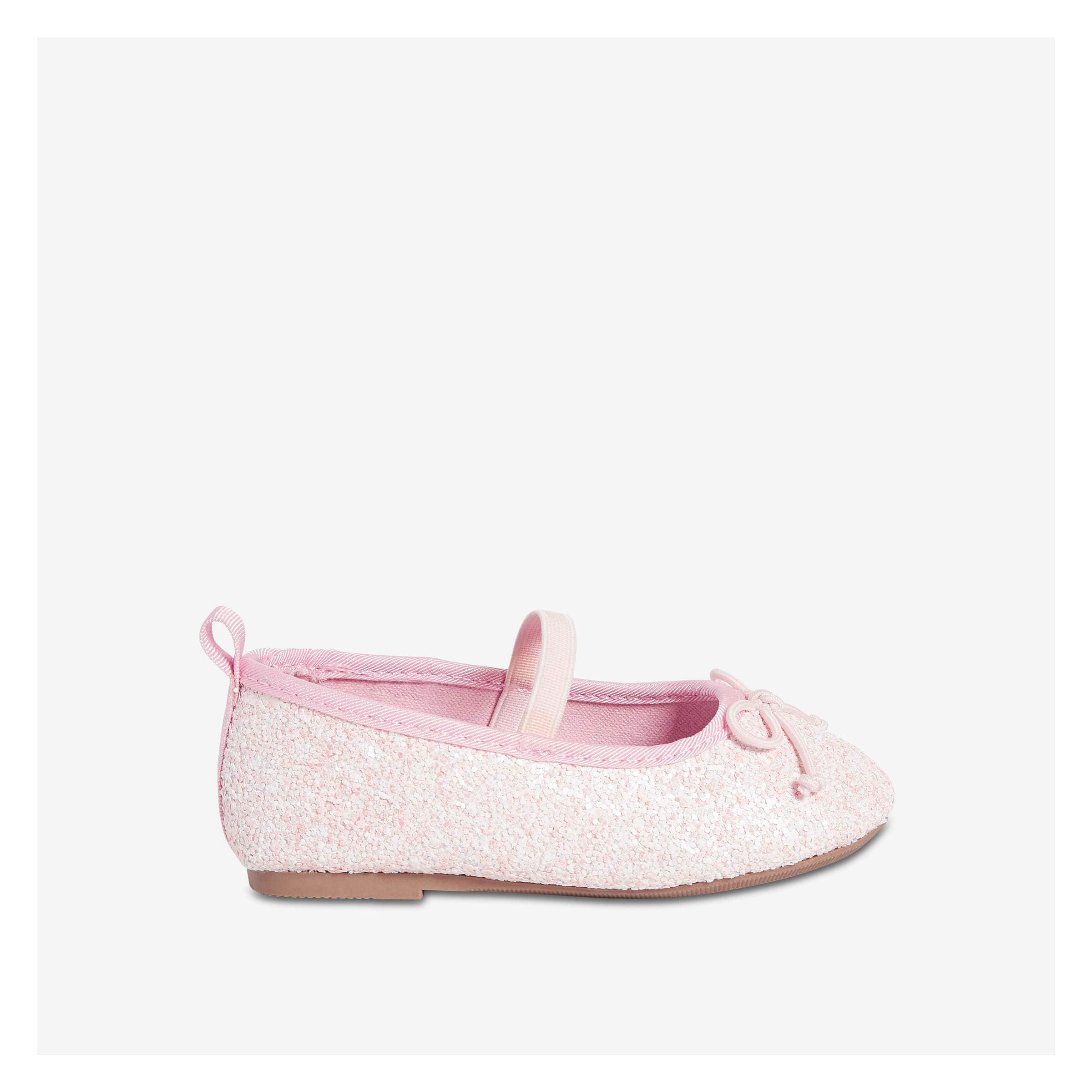 663896dae Baby Girls' Glitter Ballet Flats in Light Pink from Joe Fresh