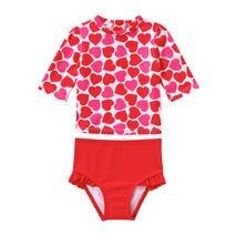 Baby Girls 2 Piece Rash Guard Swimsuit In Red From Joe Fresh