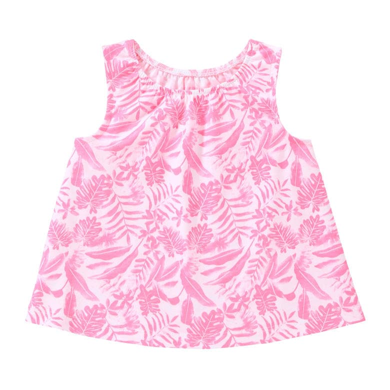 Baby Girls' Tropical Flared Tank