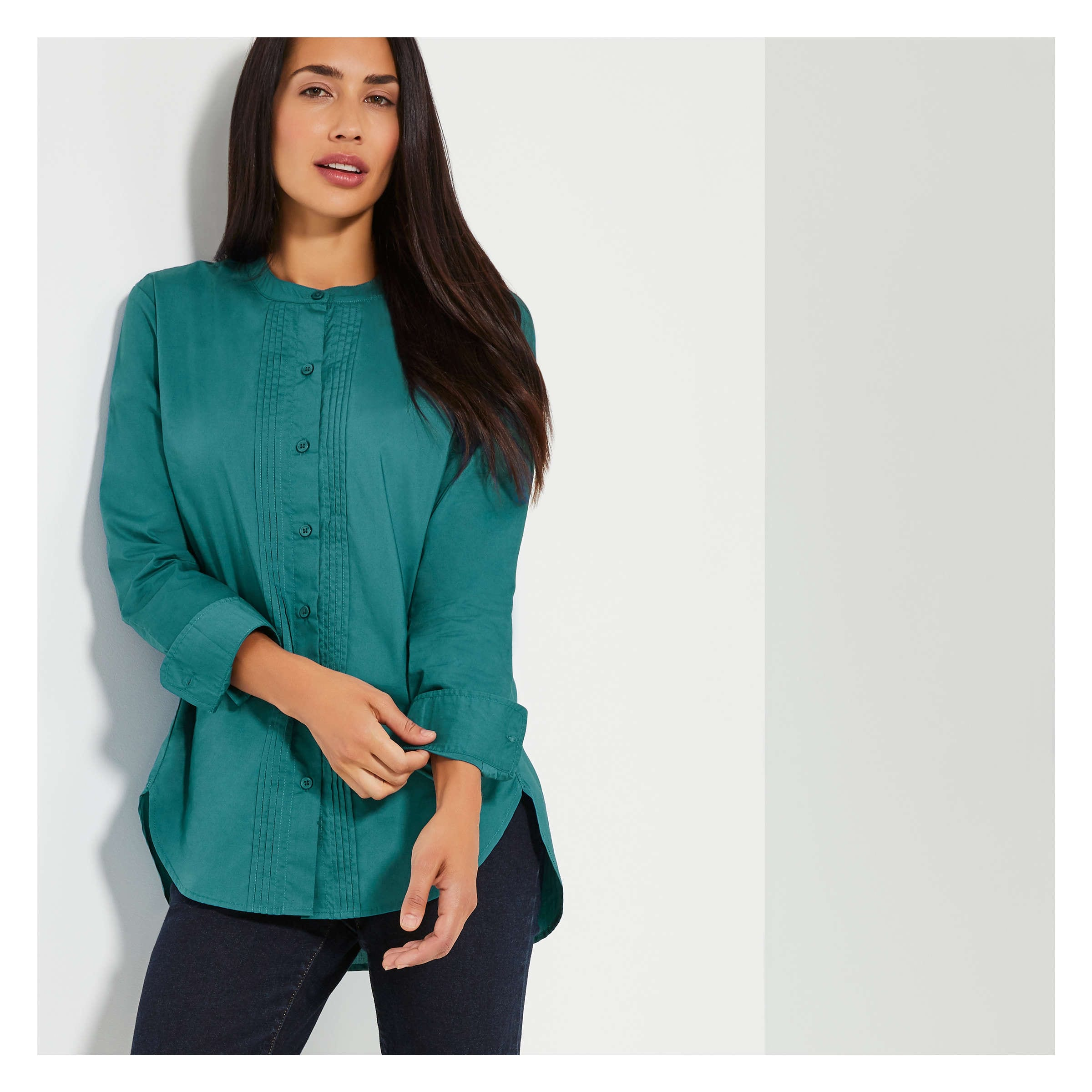 Pleat Front Shirt by Joe Fresh