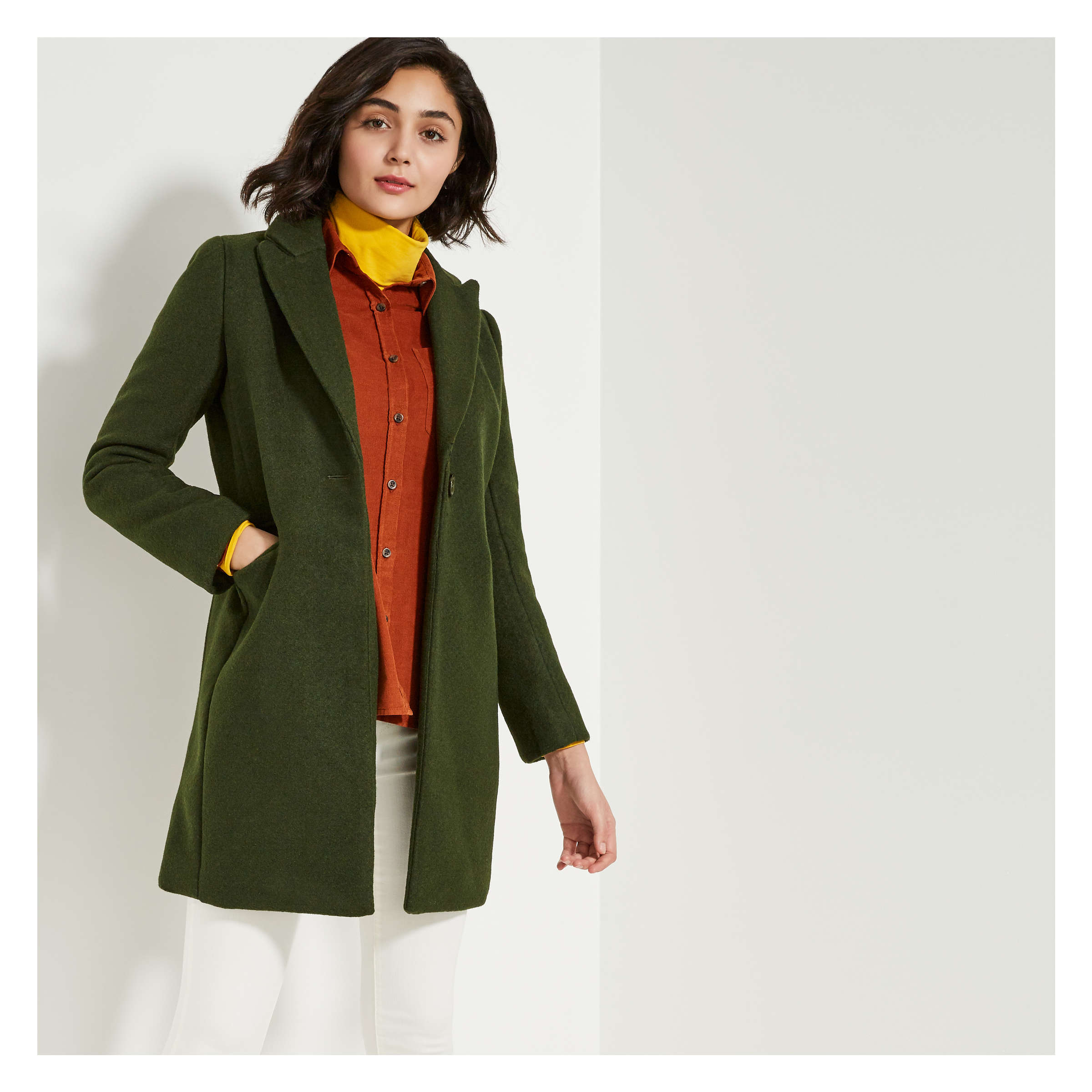 Single Button Coat by Joe Fresh
