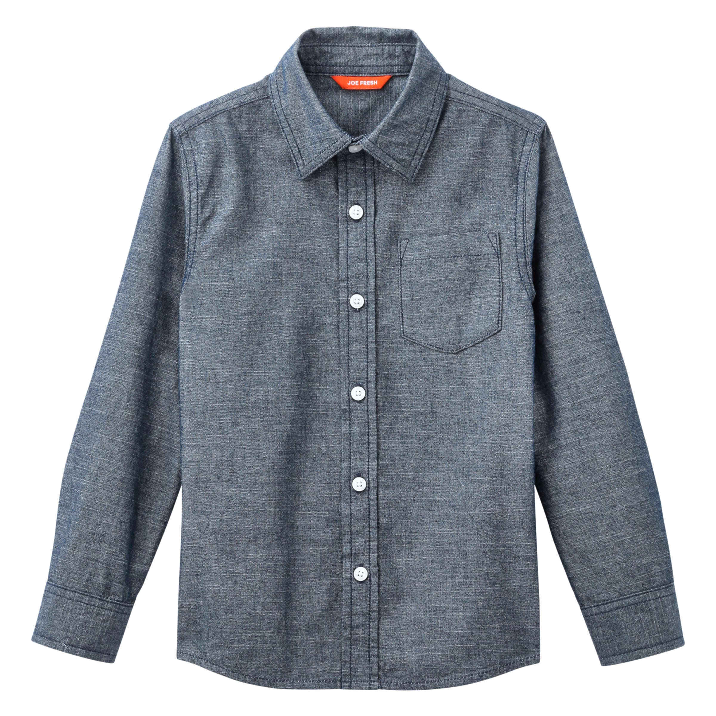 9735f211b Kid Boys' Chambray Shirt in Blue from Joe Fresh