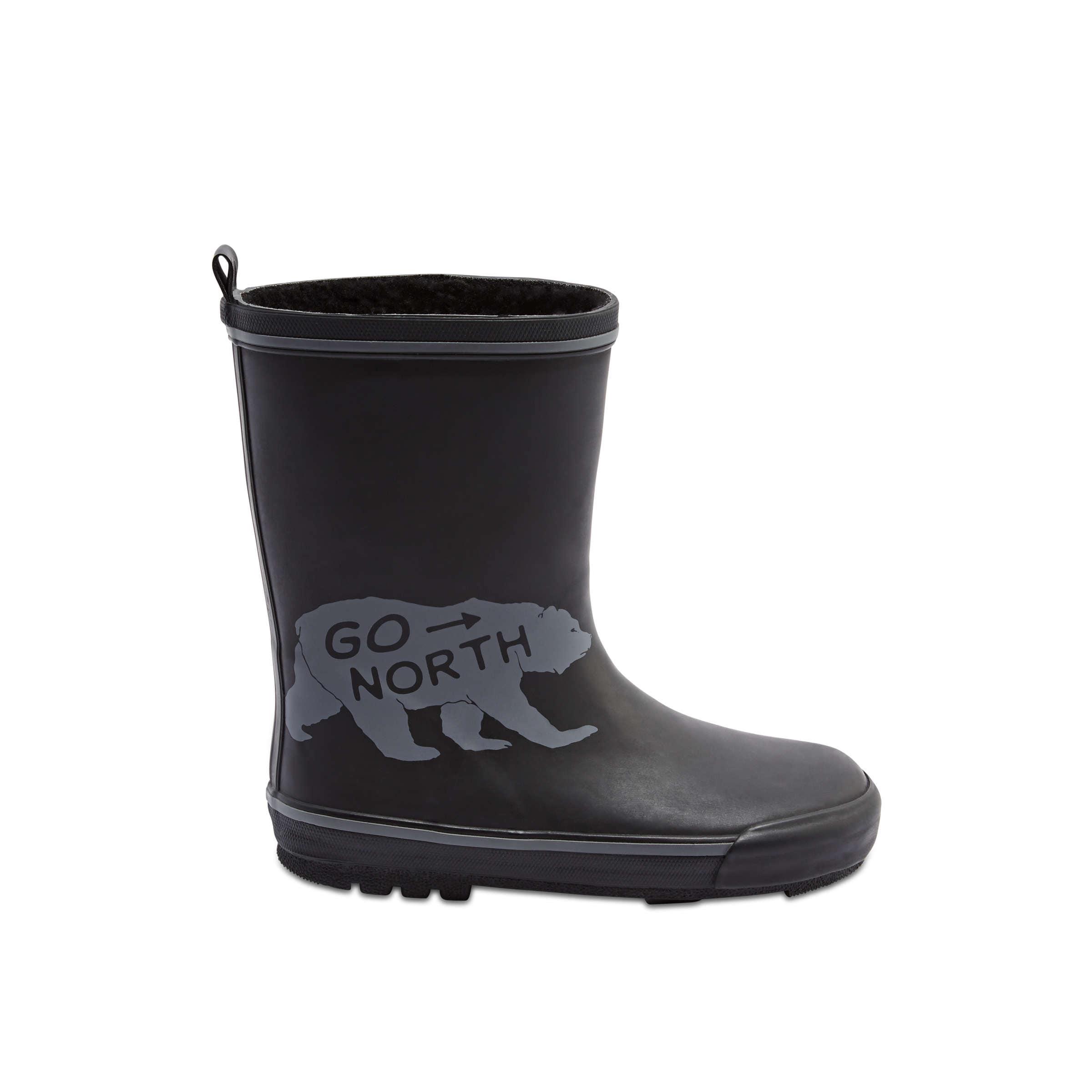 177866df5 Kid Boys' Print Rain Boot in Black from Joe Fresh