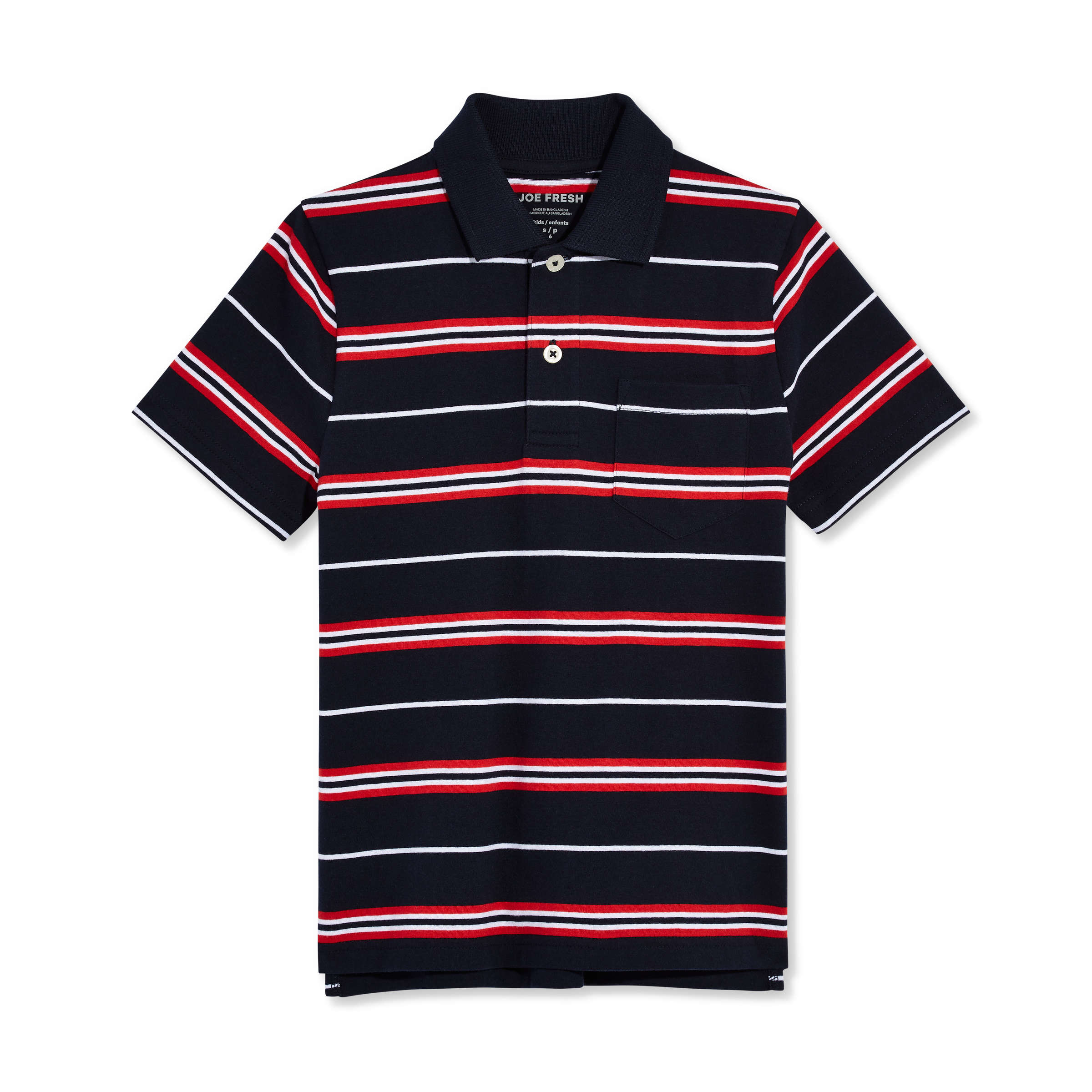 aea1954a37 Kid Boys' Stripe Polo in JF Midnight Blue from Joe Fresh