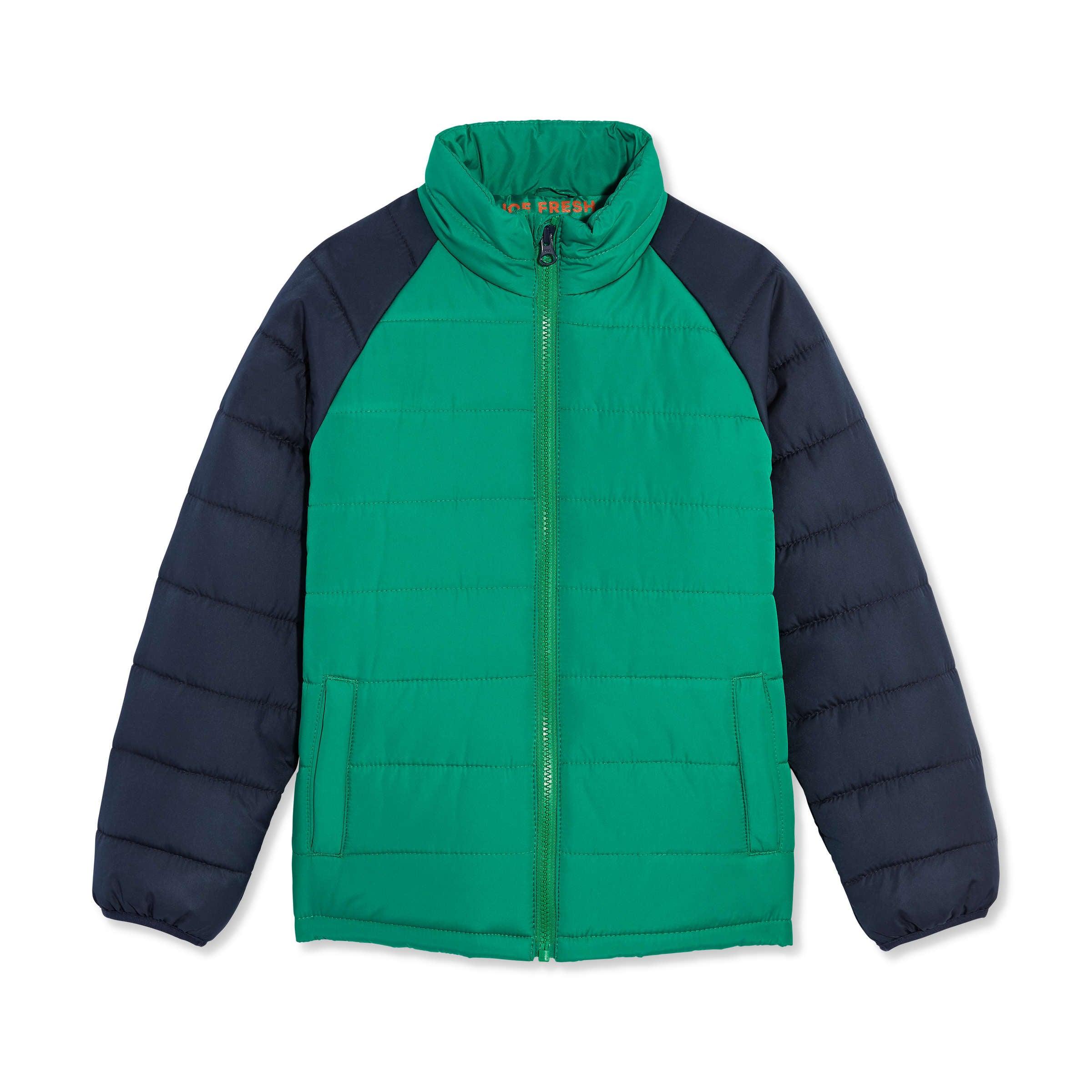 ee2833113 Kid Boys' Raglan Sleeve Puffer Jacket in Grass Green from Joe Fresh