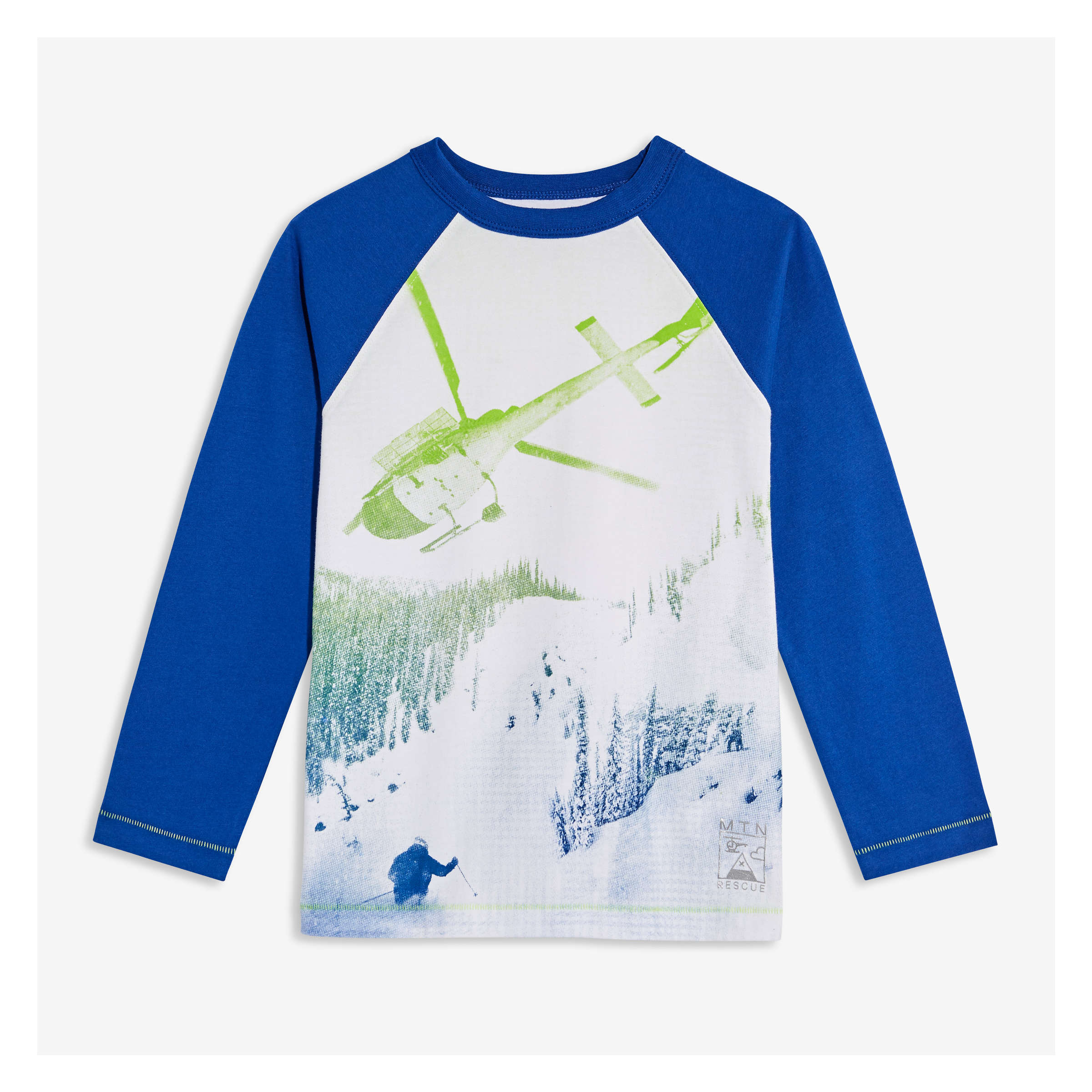 41fa732a3 Kid Boys' Graphic Raglan Tee in Royal Blue from Joe Fresh