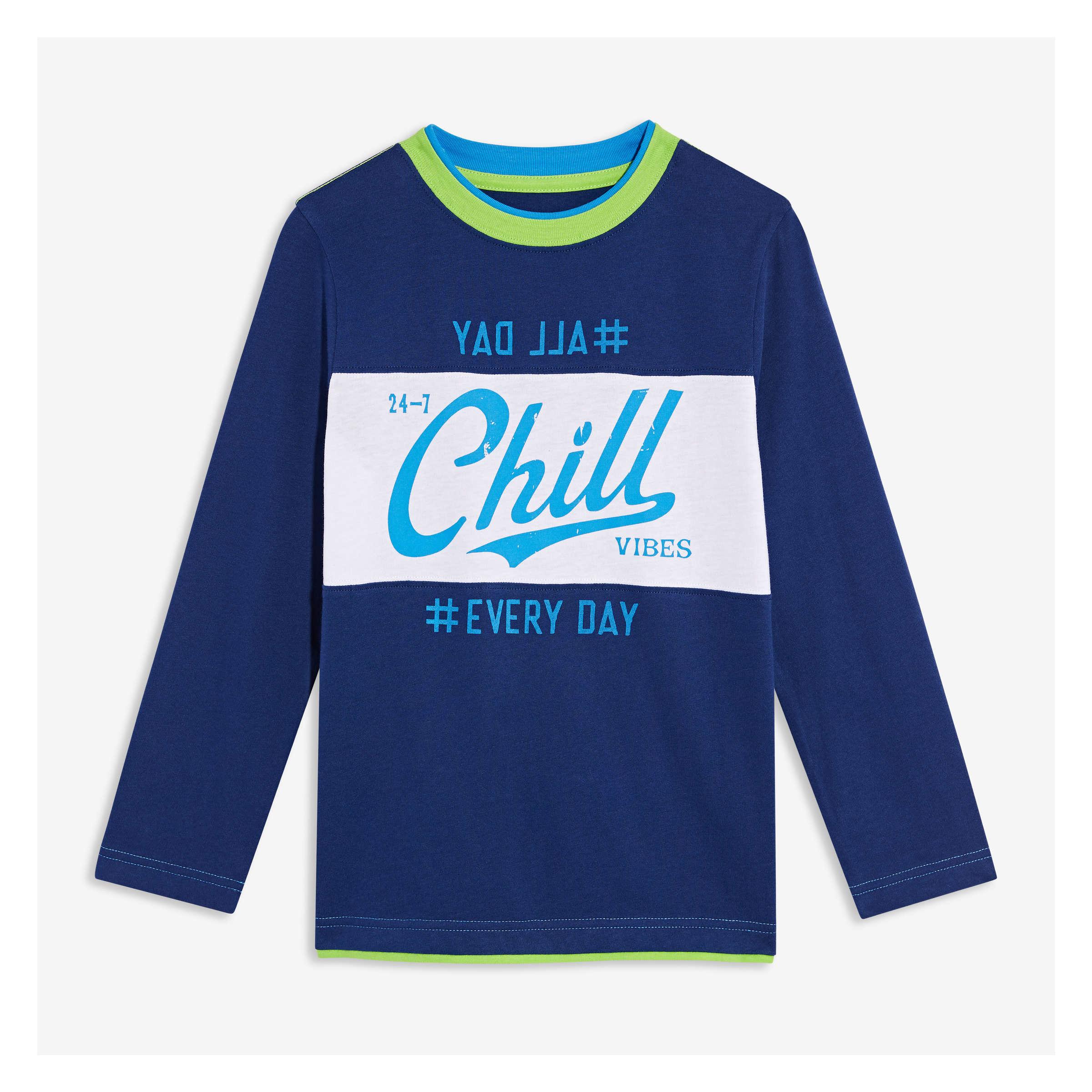 3426f440 Kid Boys' Long Sleeve Graphic Tee in Cobalt from Joe Fresh
