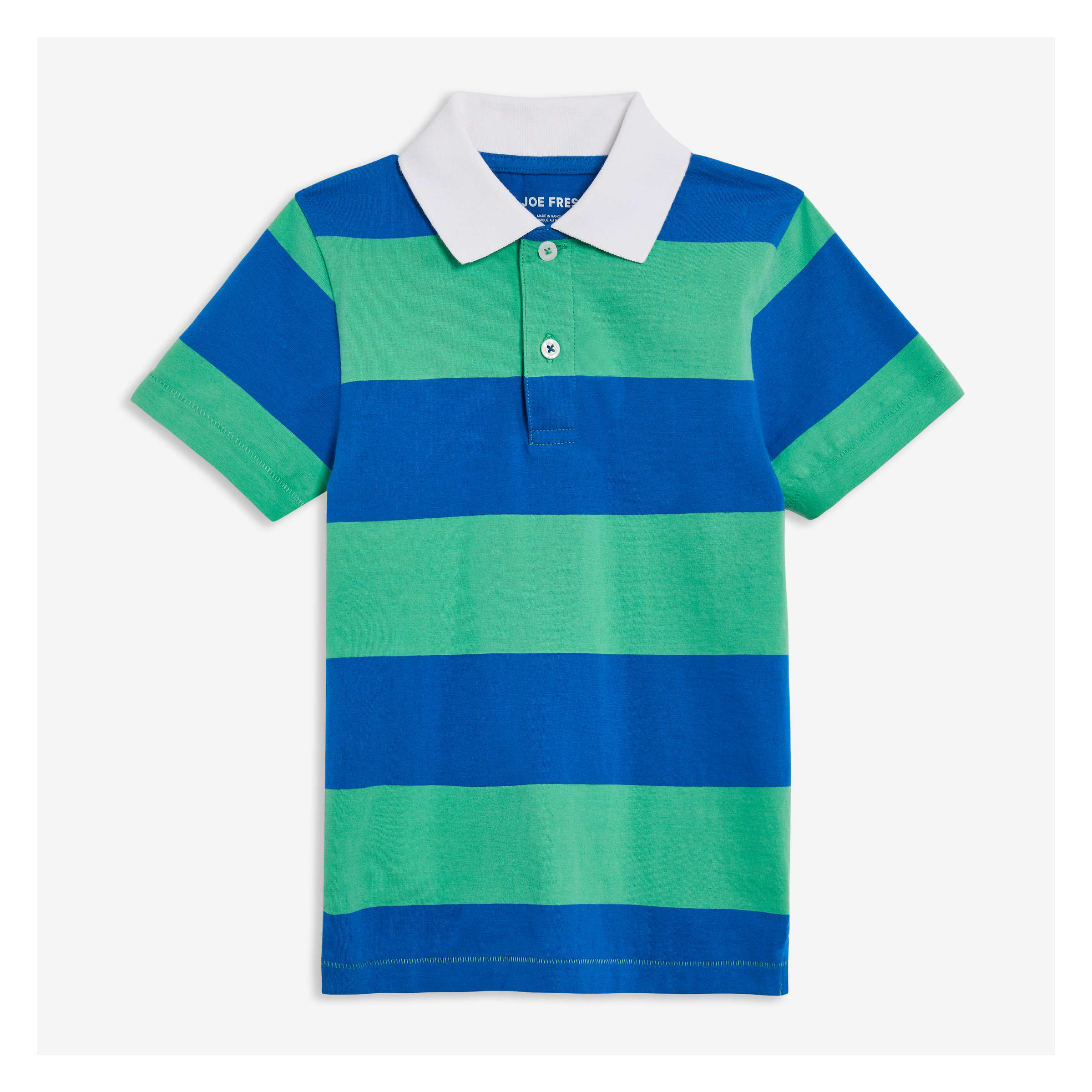 1aa90355a Kid Boys  Stripe Polo in Basil Green from Joe Fresh