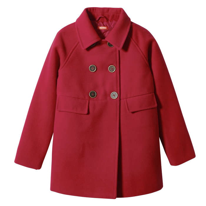 Kid Girls' Peacoat in Red from Joe Fresh